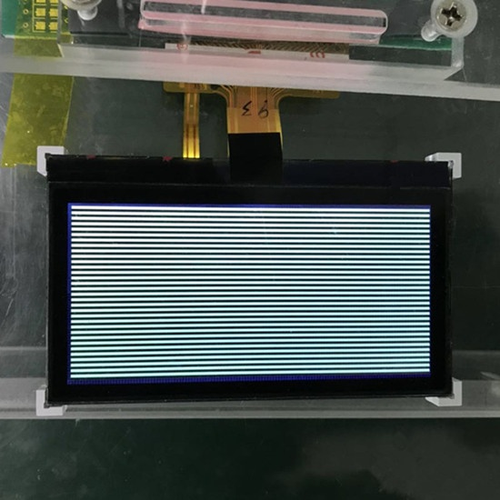 128x64 graphic lcd white on black with high contrast for industrial